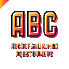 Square Alphabet Simple Sport Font And Letter Set