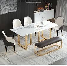 marmor esstisch marmor top esstisch set einfache gold beine esstisch set 6 stühle buy gold esstisch esszimmer luxus möbel esstisch 6 stühle product
