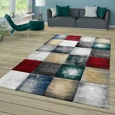 designer teppich wohnzimmer kurzflor modern skandinavische