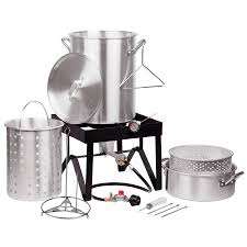 Backyard Pro 30 Quart Deluxe Turkey Fryer Kit / Steamer Kit   Food ... Backyard Pro 30 Quart Deluxe Turkey Fryer Kit Steamer Food Best 25 Fryer Ideas On Pinterest Deep Fry Turkey Fry Amazoncom Bayou Classic 1195ss Stainless Steel 32 Accsories Outdoor Cookers The Home Depot Ninja Kitchen System 1500 Canning Supplies Replacement Parts Outstanding 24 Basic Fried Tips Qt Cooking 10 Pot Steel Fryers Qt