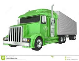 Green Semi Truck 18 Wheeler Big Rig Hauler Stock Illustration ...
