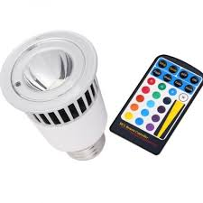 5 watt e27 multi color led bulb with remote controller reviews buy