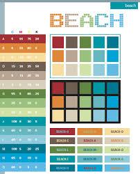 Beach Color Schemes Combinations Palettes For Print