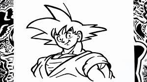 Como Dibujar A Goku Paso A Paso How To Draw Goku Como Desenhar O