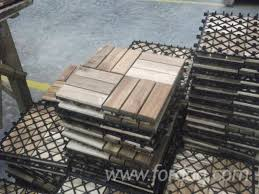 acacia wood decking deck tiles for export