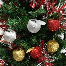 Automatic Christmas Tree Waterer Instructions by 6pcs Christmas Tree Glitter Apple Baubles Ornament Xmas Party
