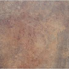 shop stainmaster 18 in x 18 in rust finish luxury vinyl tile