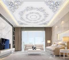 großhandel benutzerdefinierte 3d decke wandbild tapete gericht stil wohnzimmer 3d tapete für wände decke gold 3d moderne tapete yeyueman 7 21