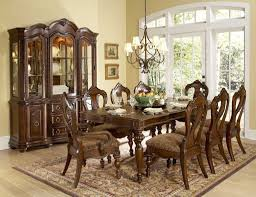 Adorable Wooden Furniture Antique Dining Room Ideas With Nice Pednant Lamp And Glass Window