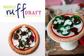 Ruff Draft DIY Felt Pizza Craft Pattern And Instructions