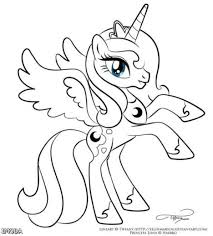 My Little Pony Coloring Pages Princess Celestia In A Dress 65