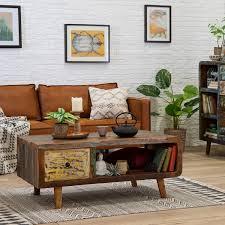 ars manufacti couchtisch yazoo massivholz altholz mehrfarbig rechteckig boho