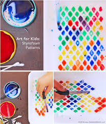 Easy Art Activities For Kids Styrofoam Patterns