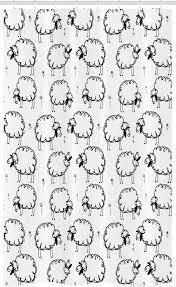 abakuhaus duschvorhang badezimmer deko set aus stoff mit haken breite 120 cm höhe 180 cm tier lustige sheeps auf einer wiese kaufen otto