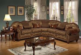 Traditional Sectional Sofas Living Room Furniture Round Brown Luxury