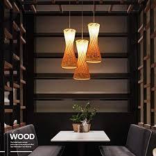 retro rustikal holz stil pendelleuchte kreativ loft bar hängeleuchte rund bambus acryl pendelle vintage kunst wohnzimmer esszimmer studie