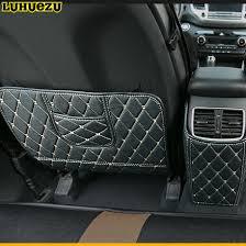 Luhuezu Leather Car Auto Center Console Armrest Pad Cover For