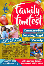 Family Fun Fest Community Day At Abundant Life Church Of Christ ...