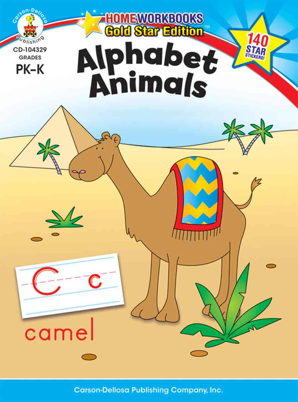 Alphabet Animals: Grades Prek-K - Carson Dellosa Publishing