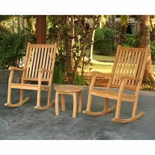 Tortuga Outdoor Jakarta 3 Piece Wood Patio Rocking Chair Chat Set