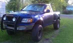 Blue Color Lifted Ford F-150 | Classic Ford | Pinterest | Lifted ...