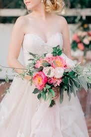 Pink Peach Florida Floral Garden Wedding Ideas