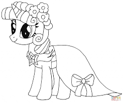 Coloring Pages Coloring Twilight Sparkle Princess Page Free