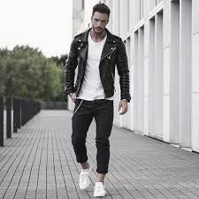 Leather Jacket White Shirt What To Wear With Black Jeans Outfits For Men