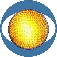 200mm yellow high flux led traffic light module 200mm high