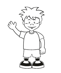 Boy Coloring Template Pages Free Little To Print