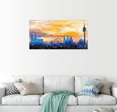 posterlounge wandbild münchen skyline in der abenddämmerung mit alpen kaufen otto