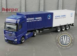 100 20 Ft Truck 937061 Herpa MercedesBenz Actros GigaSpace 2x Ft Container