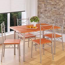 esstisch mit 4 stühlen deuba 5 tlg essgruppe tisch stuhl set