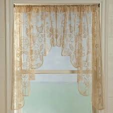 Battenburg Lace Curtains Ecru by Lace Swag Valance Medium Size Of Coffee Curtains For Kitchen Lace