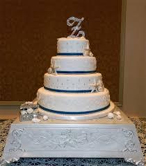 4 Tier White Elegant Beach Wedding Cake On Central