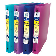 Decorative Small 3 Ring Binders by Amazon Com C Line 3 Ring Poly Binder With Inner Pocket Letter