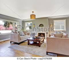 wohnzimmer licht grau sofas weißes kaminofen rug
