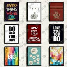 Home Decor Wall Art Posters Paintings Interior Design Cool Decorations Pictures Red Quotes Letters