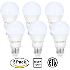 6 pack a19 75 watt equivalent led light bulbs 13 99