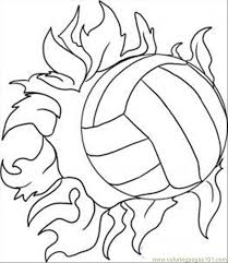 Draw A Volleyball Step 5 Coloring Page