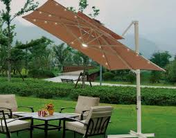 Solar Lighted Patio Umbrella by Patio U0026 Pergola Beautiful Square Patio Umbrella Home Design