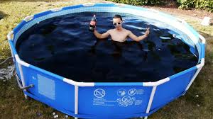 45 Ft Drop In Bathtub by Taking A Bath In A Giant 1 500 Gallon Coca Cola Swimming Pool