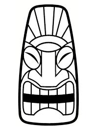 Dessin Totem Tiki Facile Coloriage Serpent The 25 Best Tiki Head