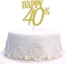 geburtstagskuchenaufsatz kuchen topper handgefertigt mit aufschrift happy birthday 40