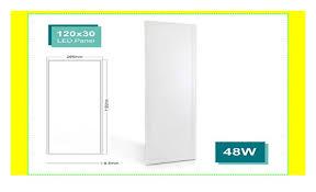 oubo led panel deckenleuchte 120x30cm neutralweiß 48w