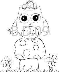 Online For Kid Cute Owl Coloring Pages 53 Line Drawings With