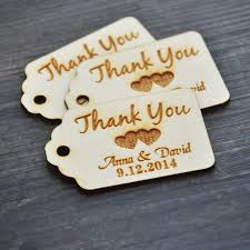 Personalized Thank You Wedding Tags Custom Engraved Wooden Favor Rustic Bridal Shower In Party DIY Decorations