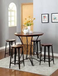 Fargo Dark Oak Black Round Counter Height Set