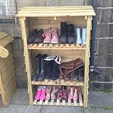 Wellington boot cupboard shoe rack outdoor storage boot store