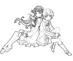 Best Friends Chie Satonaka Colouring Page